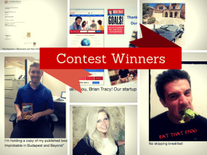brian tracy photo contest winners