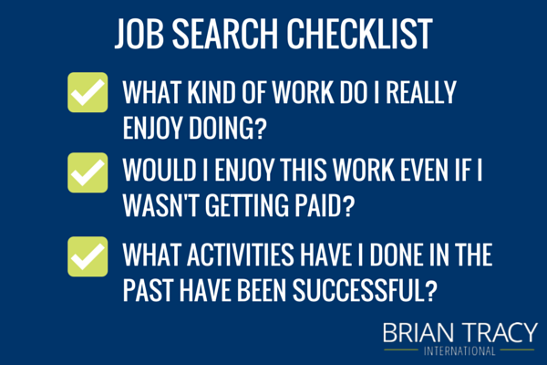 Job Search Planning Checklist