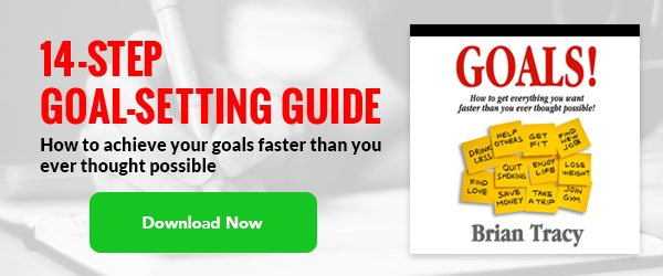 offer for Brian Tracy's 14-step goal setting guide with download now button