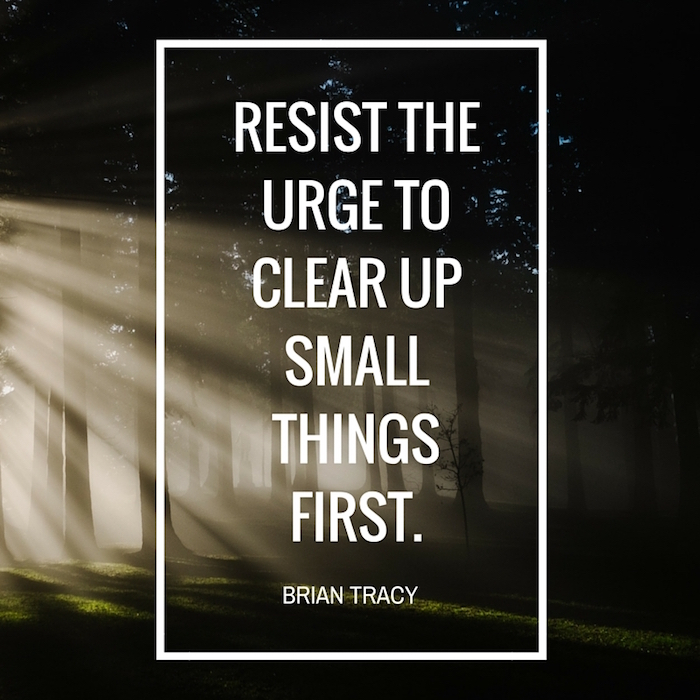resist the urge - quote by Brian Tracy on forest background